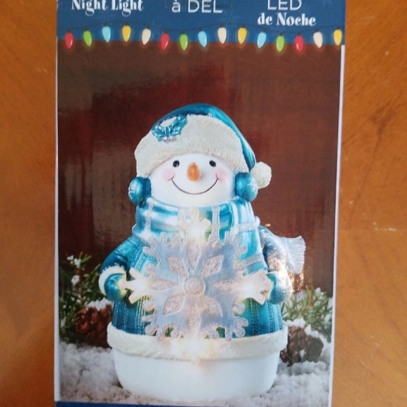 Led Snowman night light